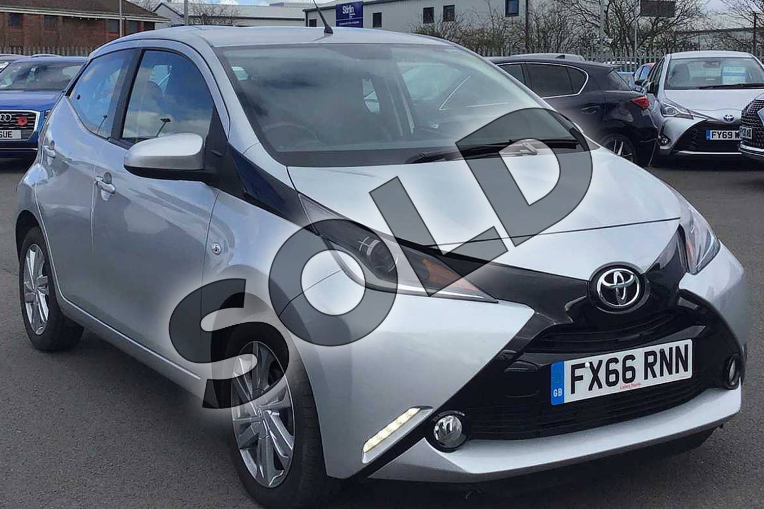 2016 Toyota AYGO Hatchback 1.0 VVT-i X-Pression 5dr x-shift in Silver at Listers Toyota Lincoln