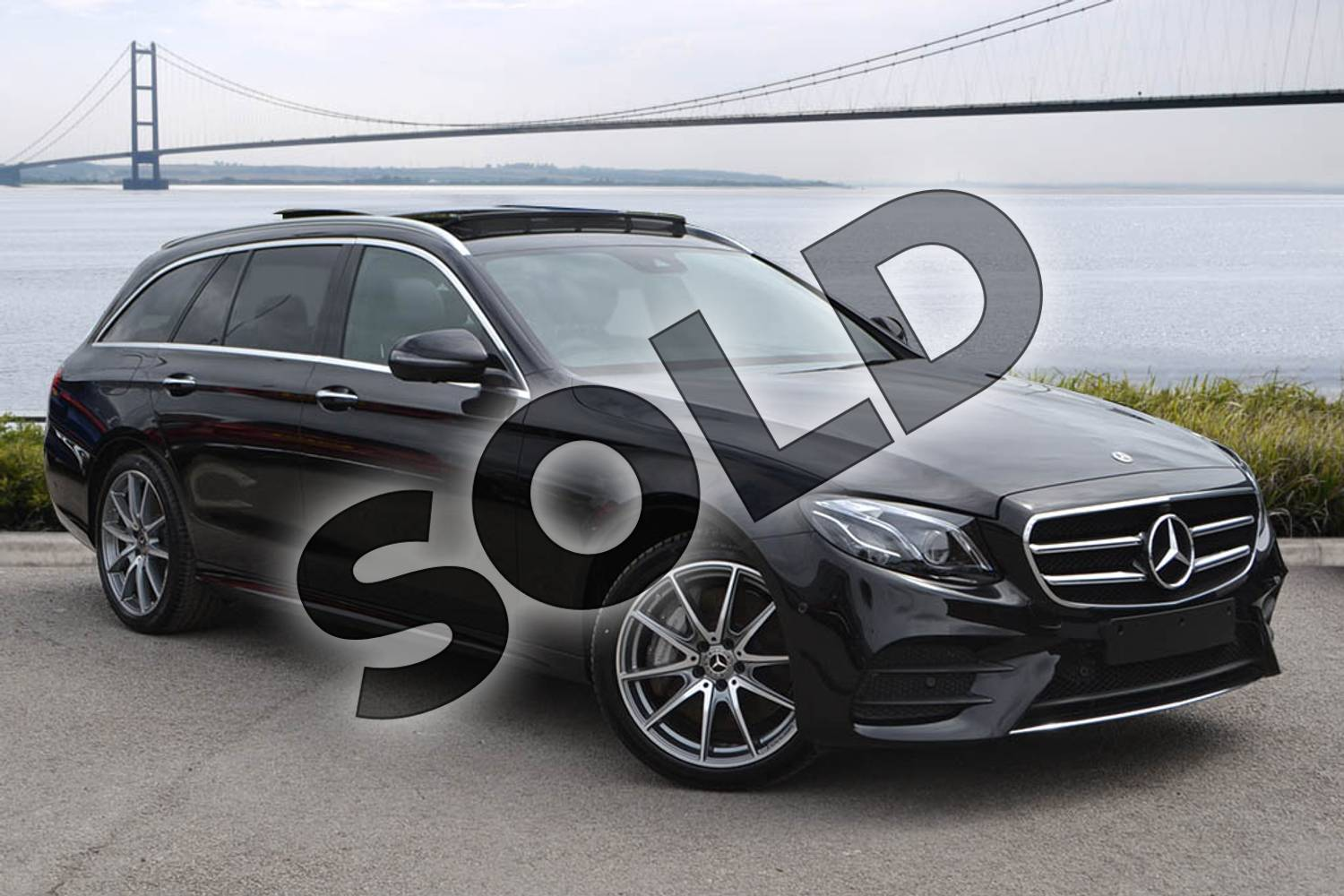 2020 Mercedes-Benz E Class Diesel Estate E350d AMG Line Night Ed Premium + 5dr 9G-Tronic in obsidian black metallic at Mercedes-Benz of Hull