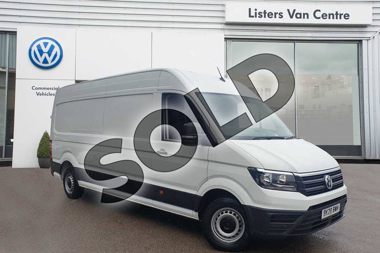 2020 Volkswagen Crafter CR35 LWB Diesel 2.0 TDI 102PS Startline High Roof Van in White at Listers Volkswagen Van Centre Coventry