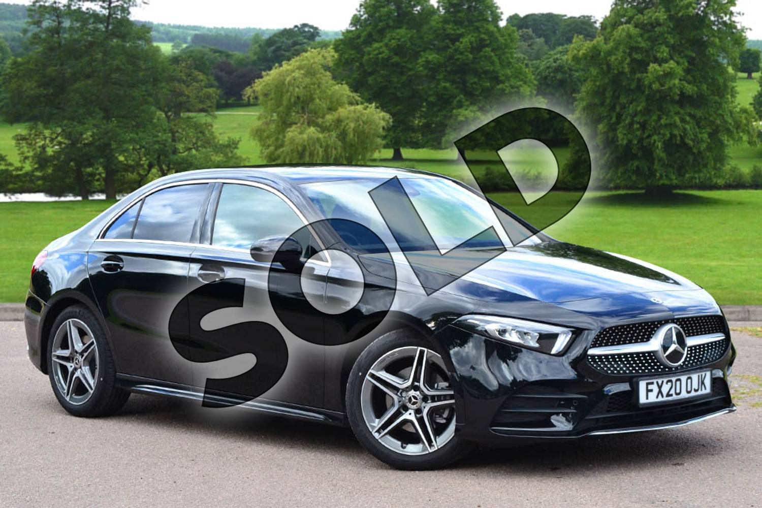 2020 Mercedes-Benz A Class Saloon A200 AMG Line Executive 4dr in Cosmos Black Metallic at Mercedes-Benz of Grimsby