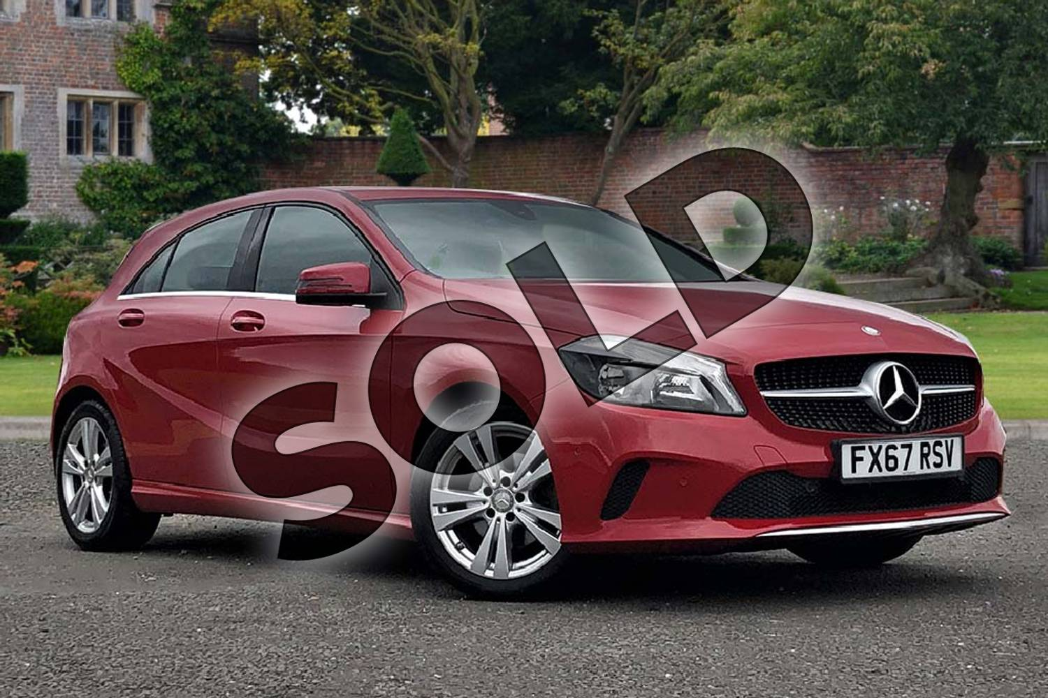 2017 Mercedes-Benz A Class Hatchback A180 Sport 5dr in Jupiter Red at Mercedes-Benz of Lincoln