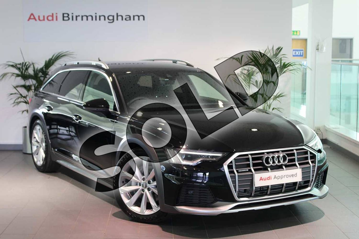 2020 Audi A6 Allroad Diesel Estate 45 TDI Quattro Sport 5dr Tip Auto (Tech) in Myth Black Metallic at Birmingham Audi