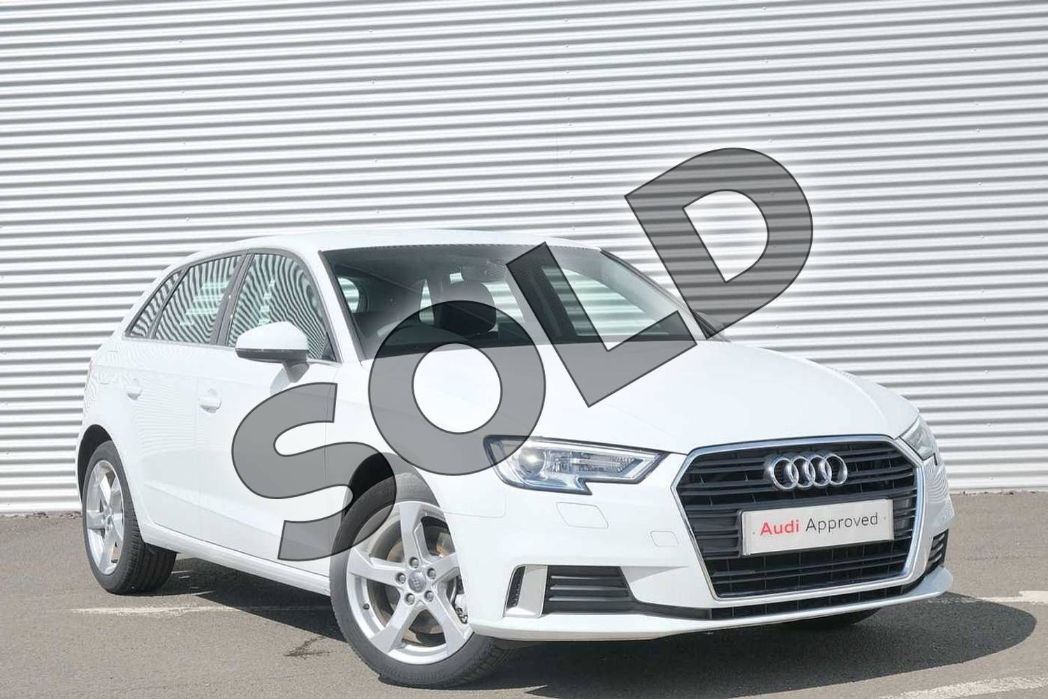 2020 Audi A3 Sportback 40 TFSI Sport 5dr S Tronic in Glacier White Metallic at Coventry Audi