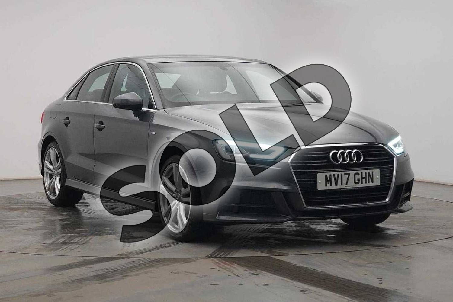 2017 Audi A3 Saloon 1.4 TFSI S Line 4dr in Daytona Grey Pearlescent at Birmingham Audi