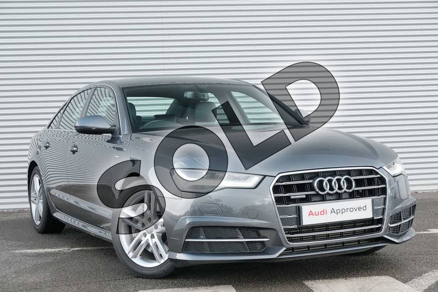 2017 Audi A6 Diesel Saloon 3.0 TDI (272) Quattro S Line 4dr S Tronic in Daytona Grey Pearlescent at Coventry Audi