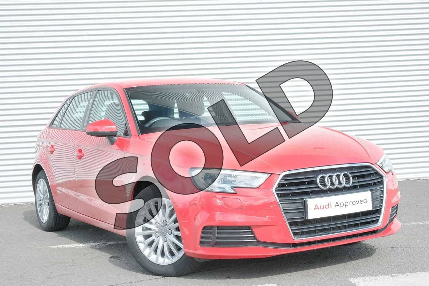 2017 Audi A3 Diesel Sportback 1.6 TDI SE Technik 5dr S Tronic in Tango Red Metallic at Coventry Audi