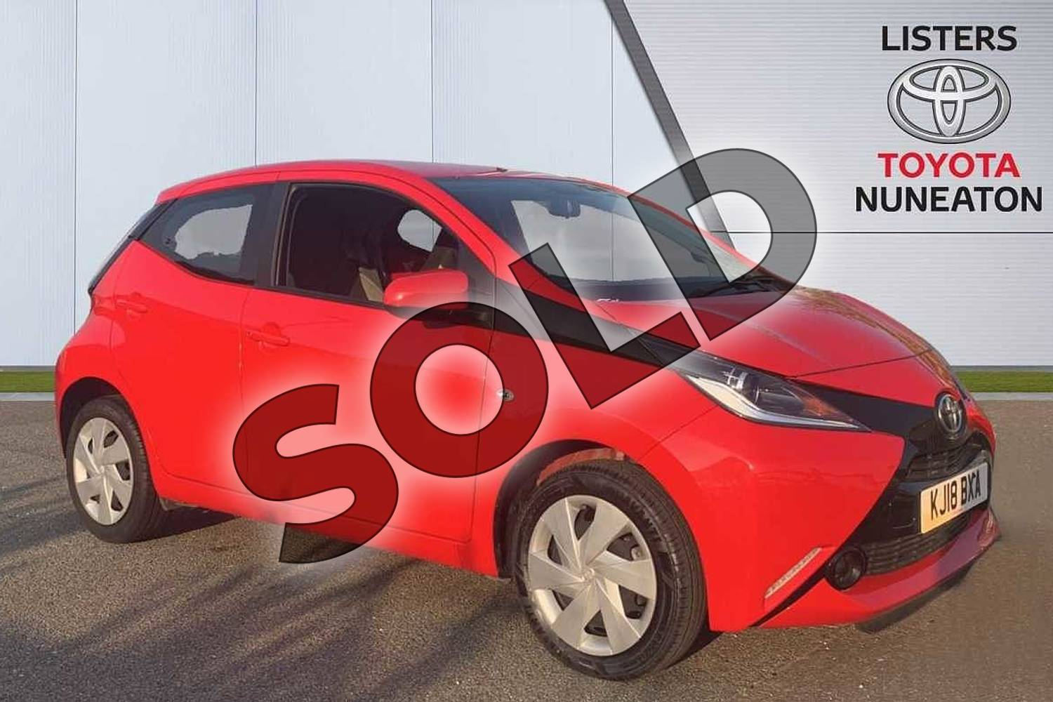 2018 Toyota AYGO Hatchback 1.0 VVT-i X-Play 5dr in Red at Listers Toyota Nuneaton