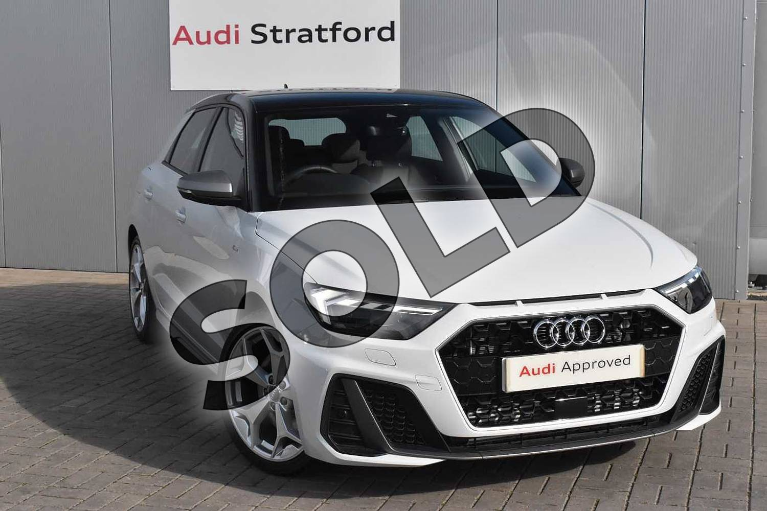 2020 Audi A1 Sportback 40 TFSI S Line Competition 5dr S Tronic in Glacier White Metallic at Stratford Audi