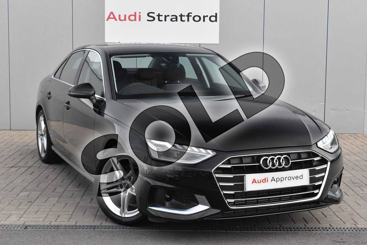 2020 Audi A4 Saloon 35 TFSI Sport 4dr S Tronic in Myth Black Metallic at Stratford Audi