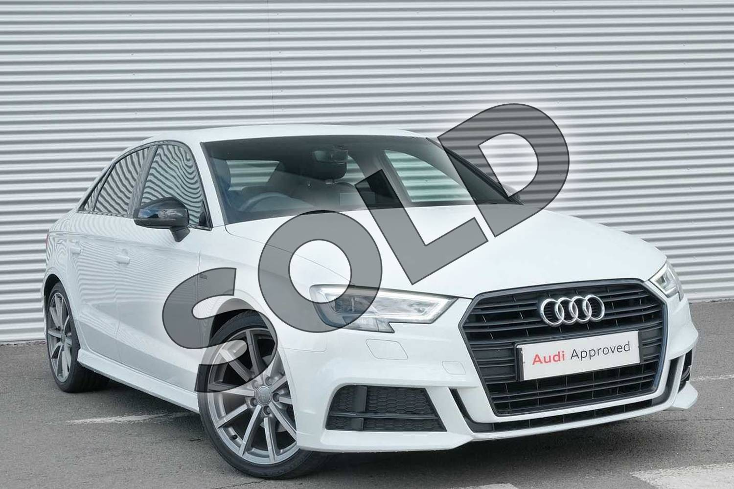 2018 Audi A3 Saloon Special Editions 1.5 TFSI Black Edition 4dr in Glacier White Metallic at Coventry Audi