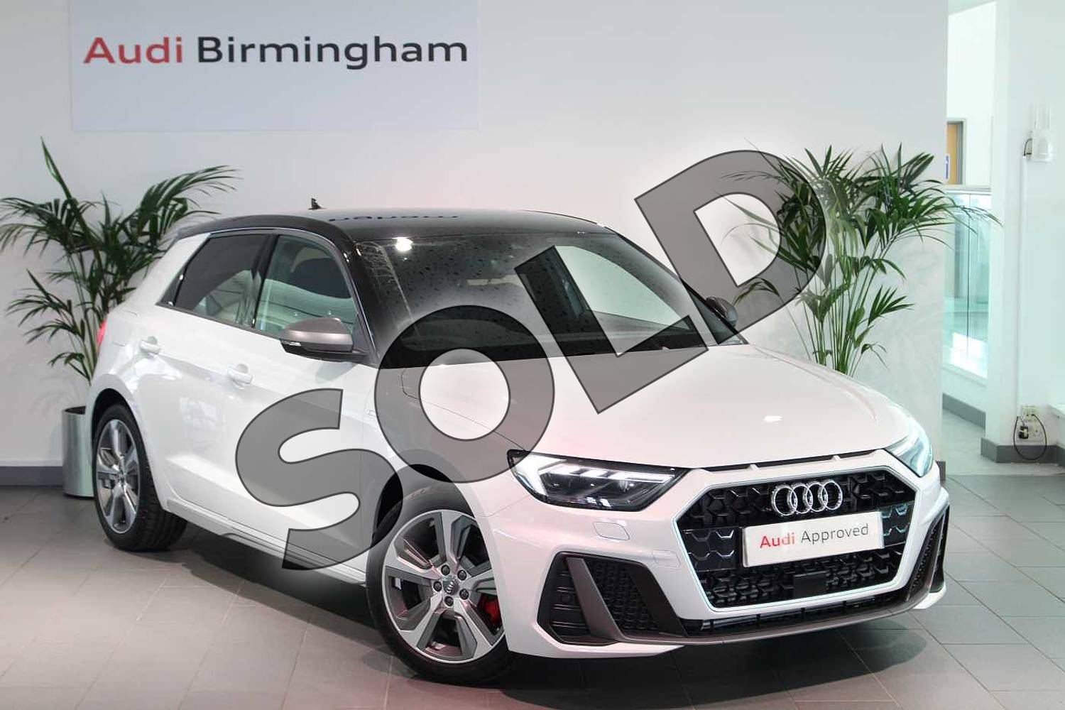 2020 Audi A1 Sportback 40 TFSI S Line Competition 5dr S Tronic in Glacier White Metallic at Birmingham Audi