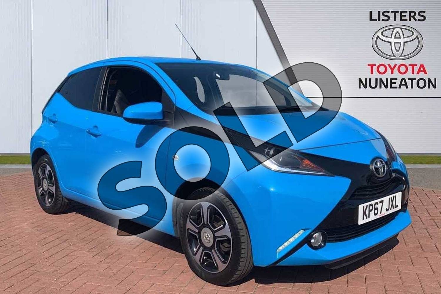 2017 Toyota AYGO Hatchback Special Editions 1.0 VVT-i X-Clusiv 3 5dr in Blue at Listers Toyota Nuneaton