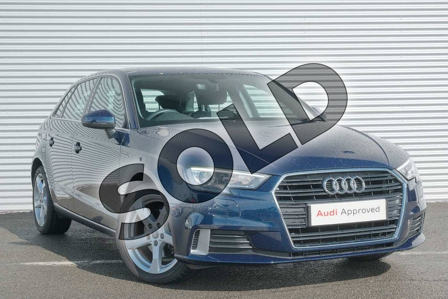 2017 Audi A3 Sportback 1.0 TFSI Sport 5dr in Cosmos blue, metallic at Coventry Audi