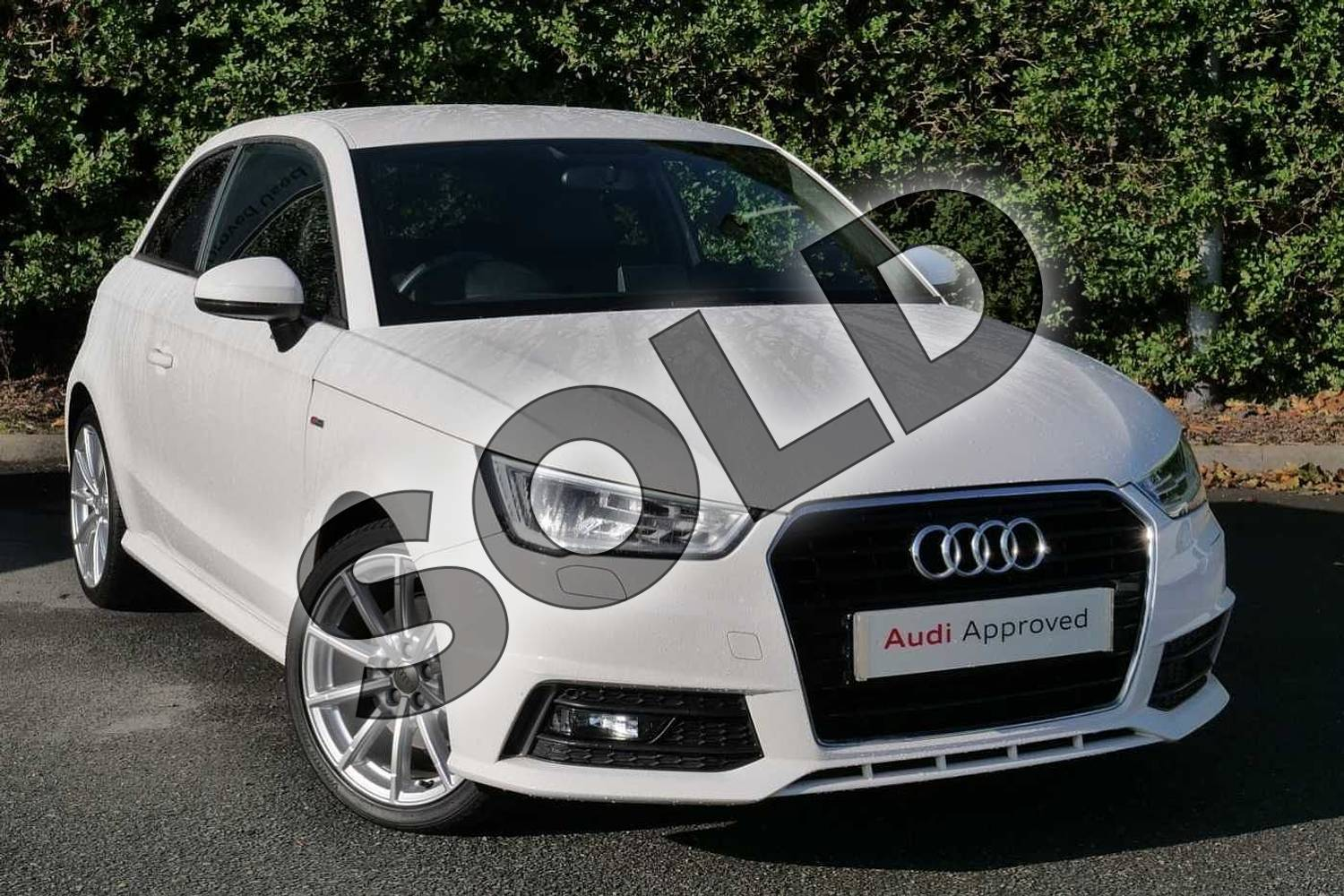 2017 Audi A1 Hatchback 1.4 TFSI S Line 3dr in Shell White at Worcester Audi