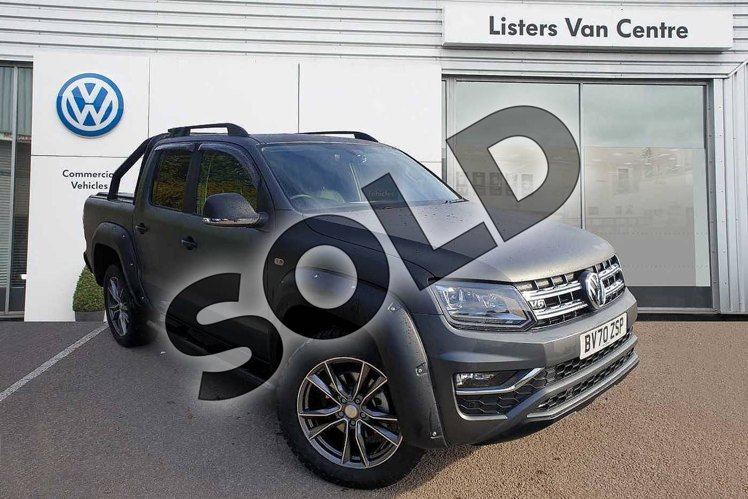 2020 Volkswagen Amarok A33 Diesel D/Cab Pick Up Highline 3.0 V6 TDI 258 BMT 4M Auto in Grey at Listers Volkswagen Van Centre Coventry