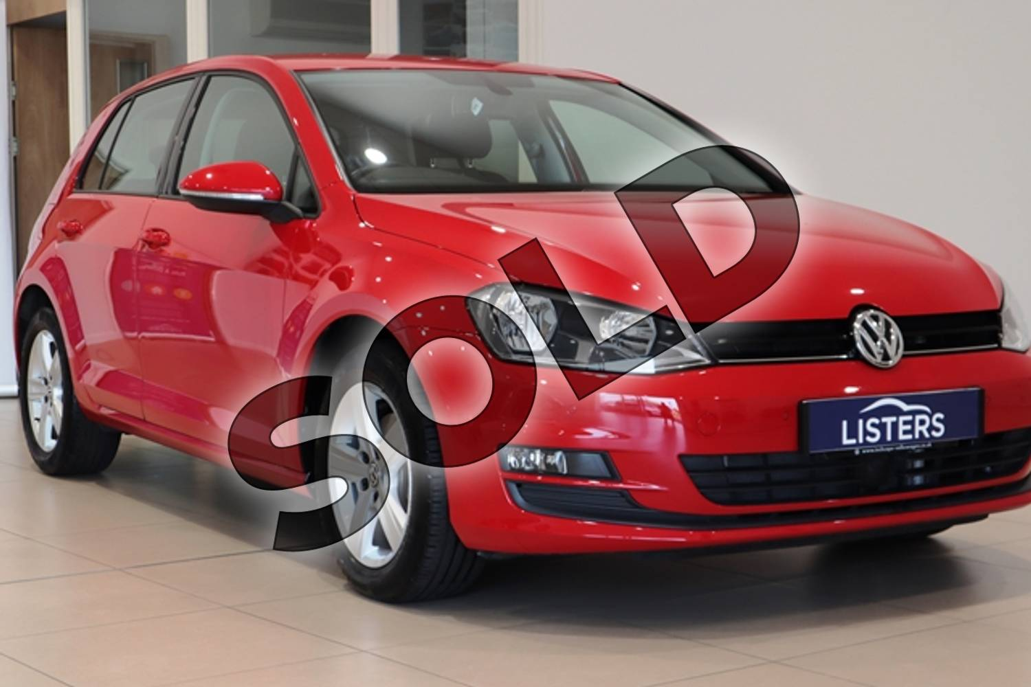 2014 Volkswagen Golf Hatchback 1.4 TSI Match 5dr in Solid - Tornado red at Listers U Northampton