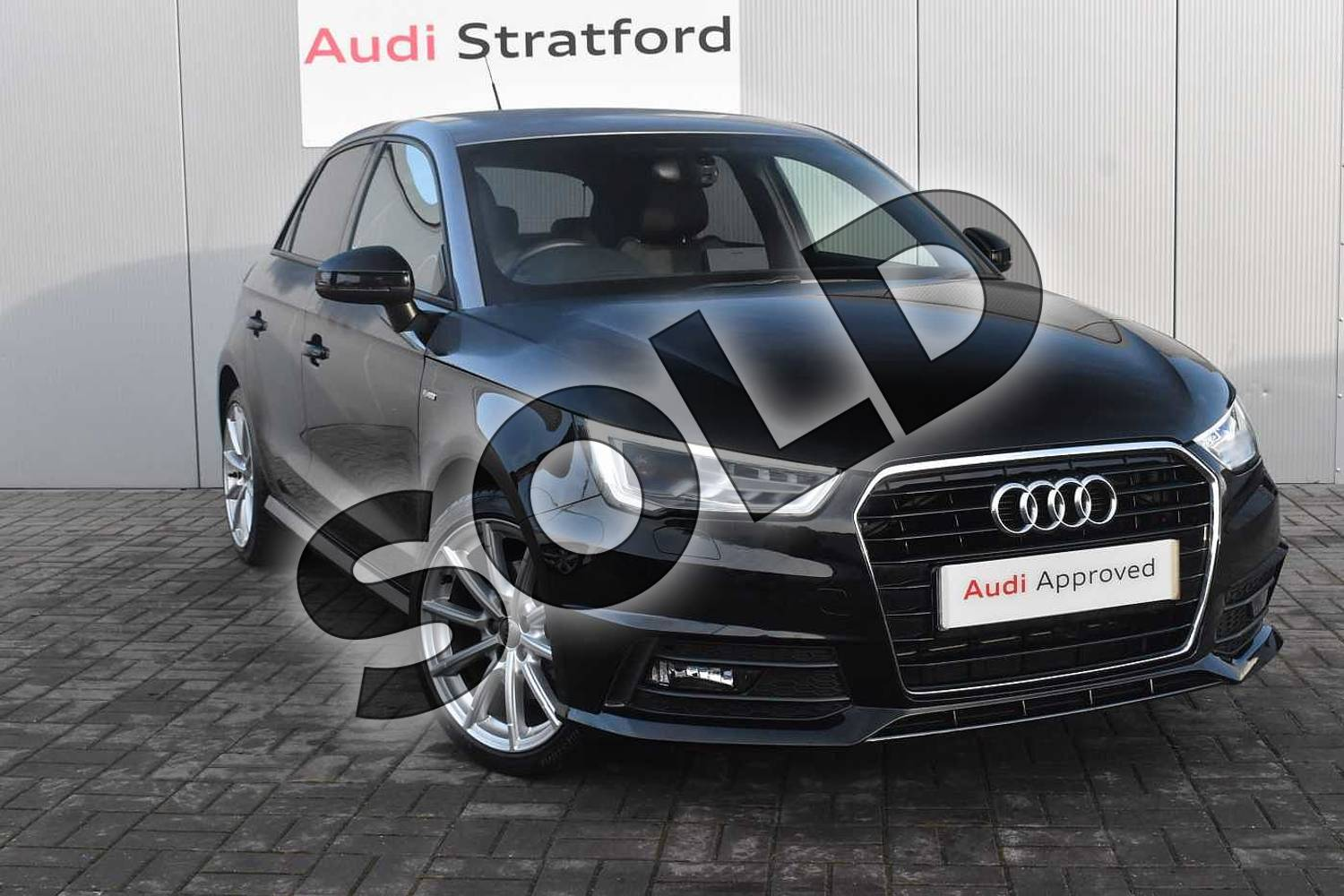 2017 Audi A1 Sportback 1.4 TFSI S Line 5dr in Brilliant Black at Coventry Audi