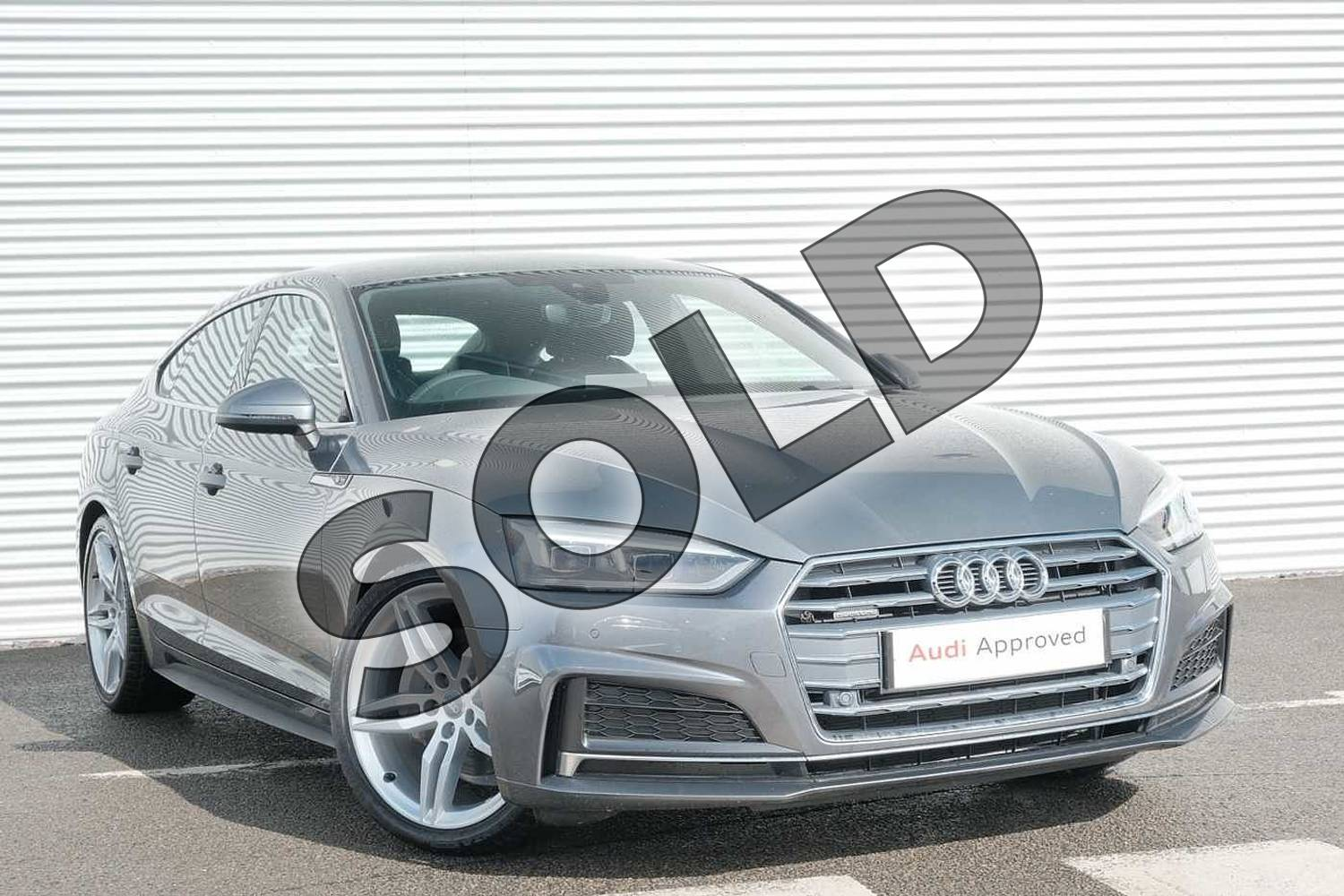 2020 Audi A5 Diesel Sportback 40 TDI Quattro S Line 5dr S Tronic in Monsoon Grey Metallic at Coventry Audi