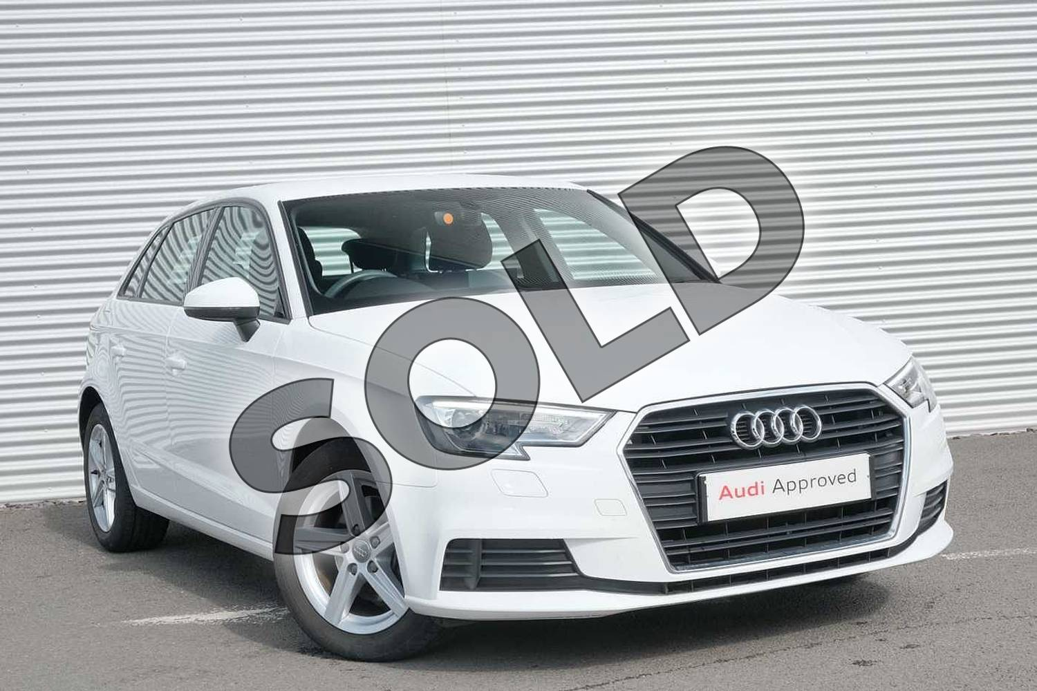 2017 Audi A3 Sportback 1.0 TFSI SE 5dr in Ibis White at Coventry Audi