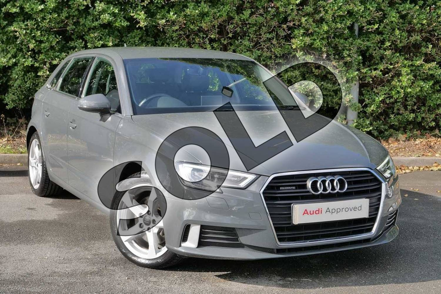2016 Audi A3 Sportback 2.0 TFSI Quattro Sport 5dr S Tronic in Nano Grey Metallic at Worcester Audi