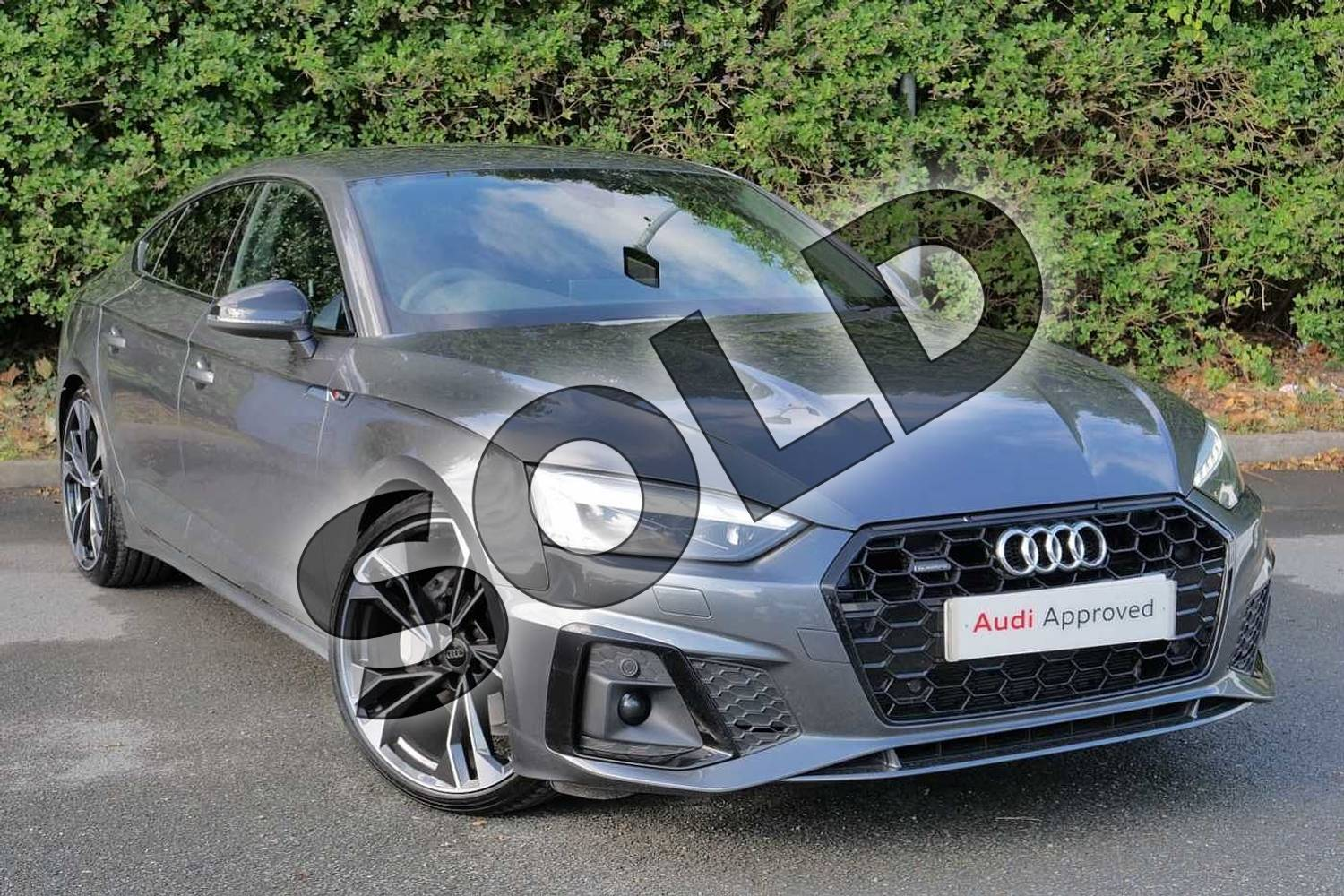 2020 Audi A5 Sportback Special Editions 40 TDI Quattro Edition 1 5dr S Tronic in Daytona Grey Pearlescent at Worcester Audi