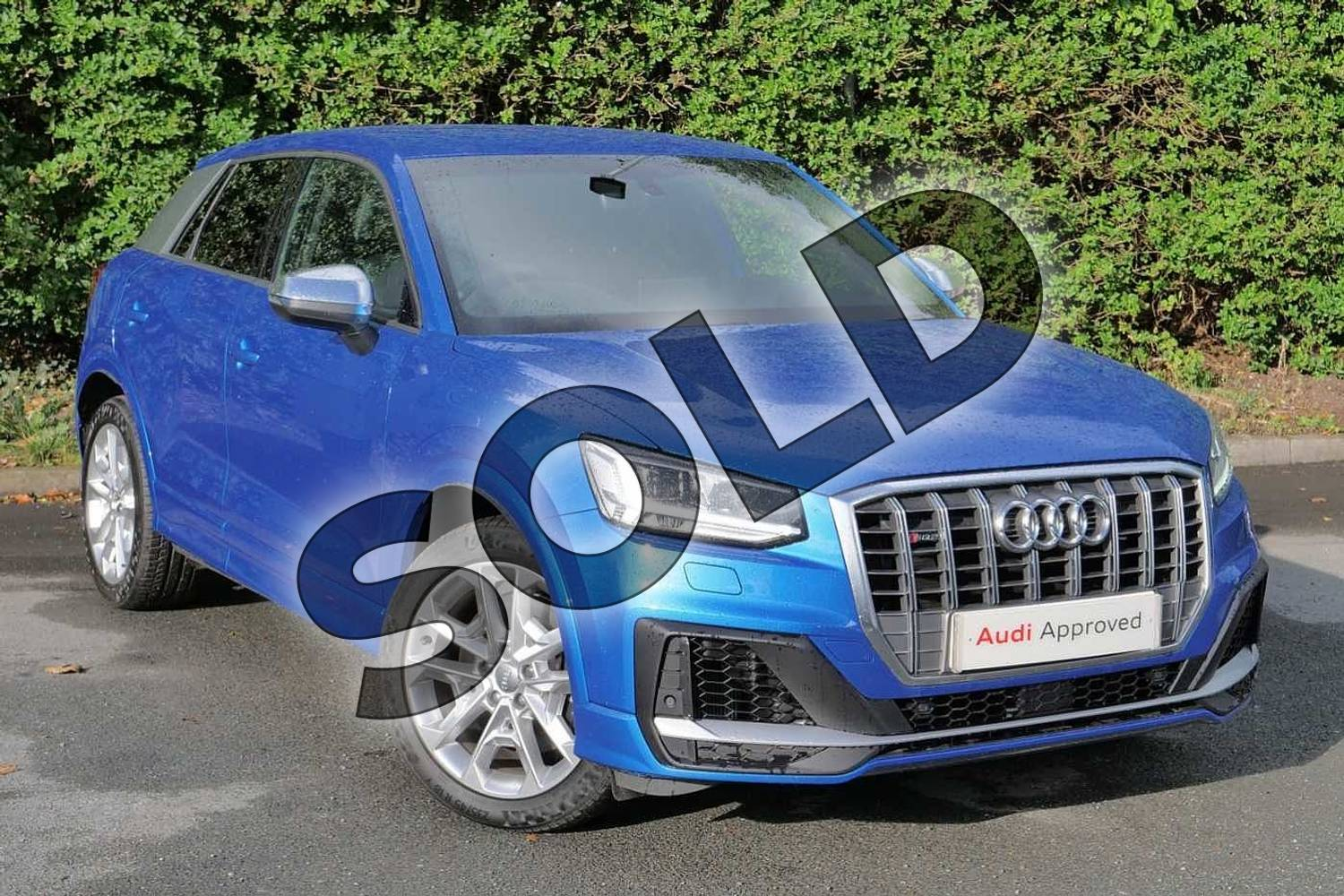 2020 Audi Q2 Estate SQ2 Quattro 5dr S Tronic in Ara Blue Crystal Effect at Worcester Audi