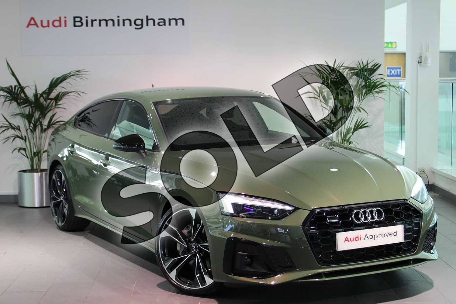 2020 Audi A5 Sportback Special Editions 40 TDI Quattro Edition 1 5dr S Tronic in District Green Metallic at Birmingham Audi