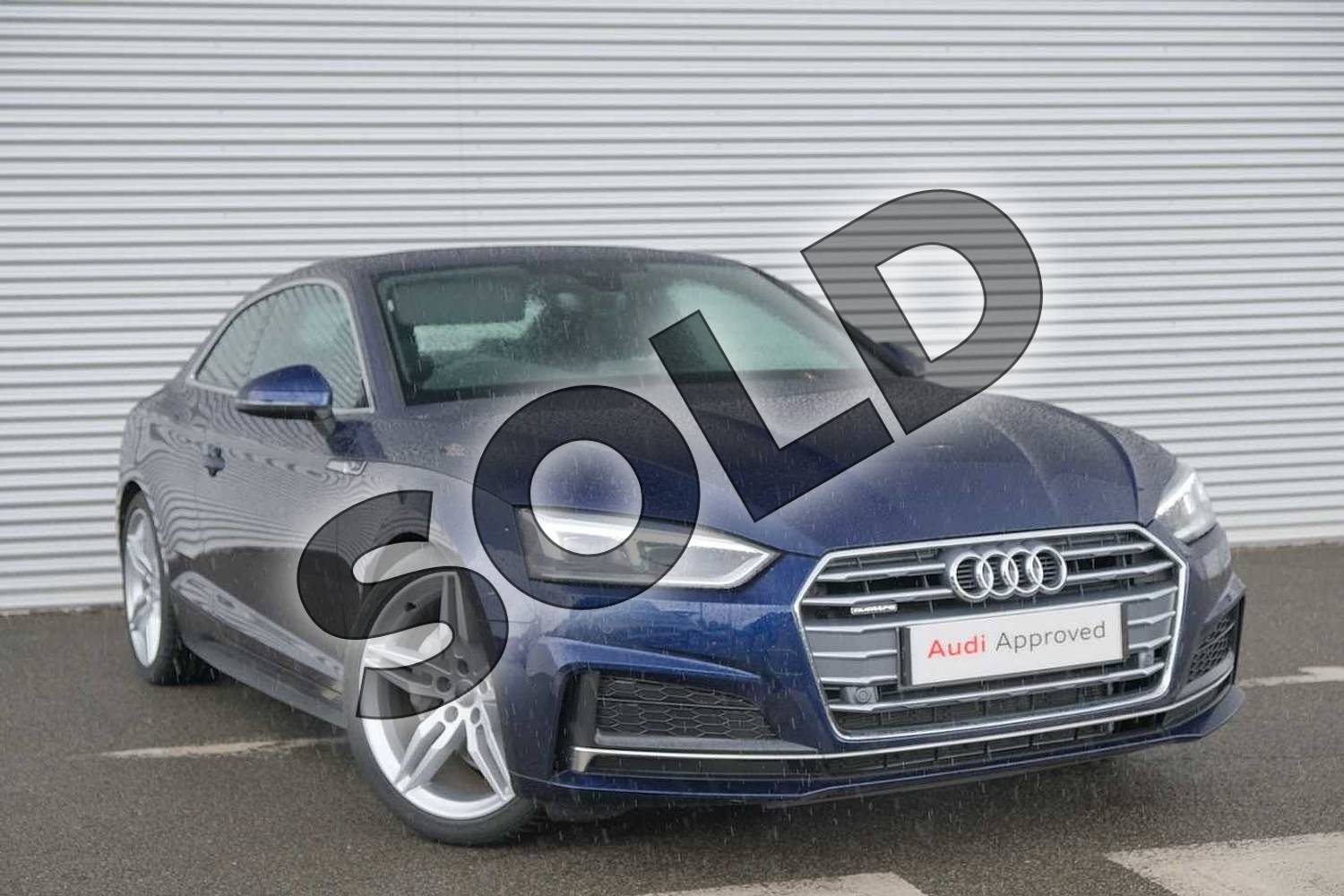 2020 Audi A5 Diesel Coupe 40 TDI Quattro S Line 2dr S Tronic in Navarra Blue Metallic at Coventry Audi