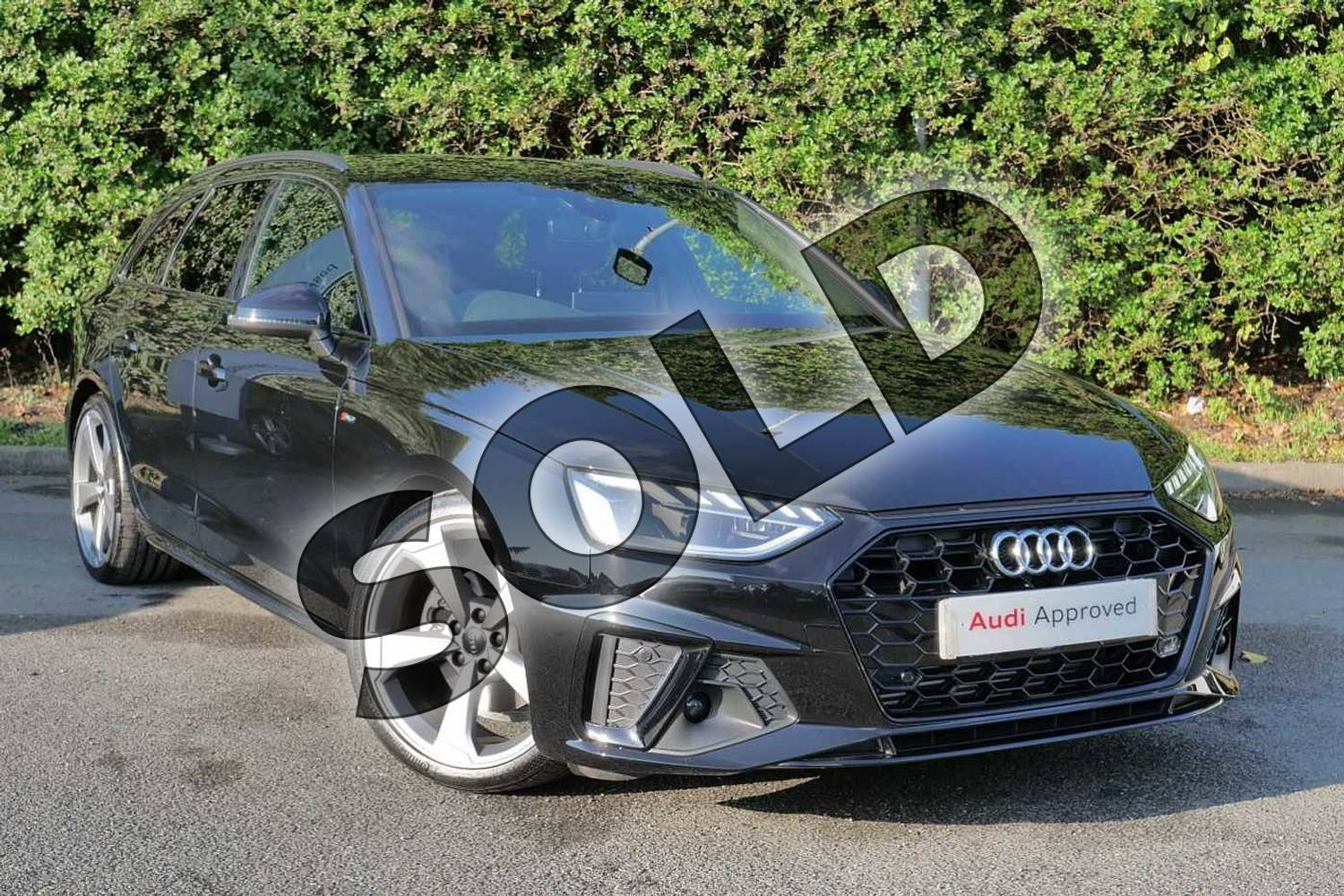 2020 Audi A4 Avant 35 TFSI Black Edition 5dr S Tronic in Myth Black Metallic at Worcester Audi