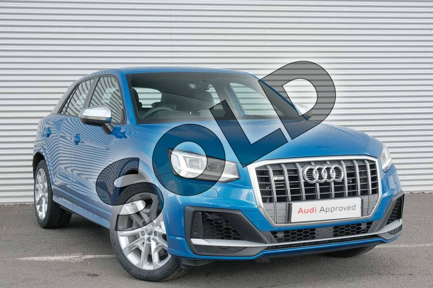 2020 Audi Q2 Estate SQ2 Quattro 5dr S Tronic in Ara Blue Crystal Effect at Coventry Audi
