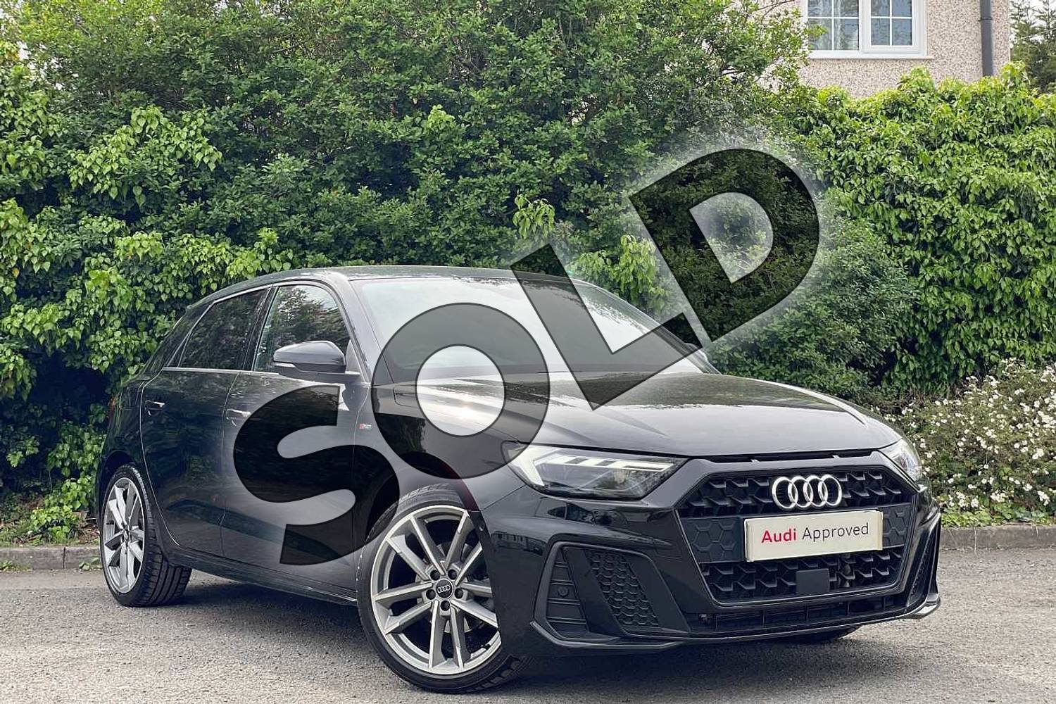 2020 Audi A1 Sportback 35 TFSI Vorsprung 5dr S Tronic in Myth Black Metallic at Coventry Audi