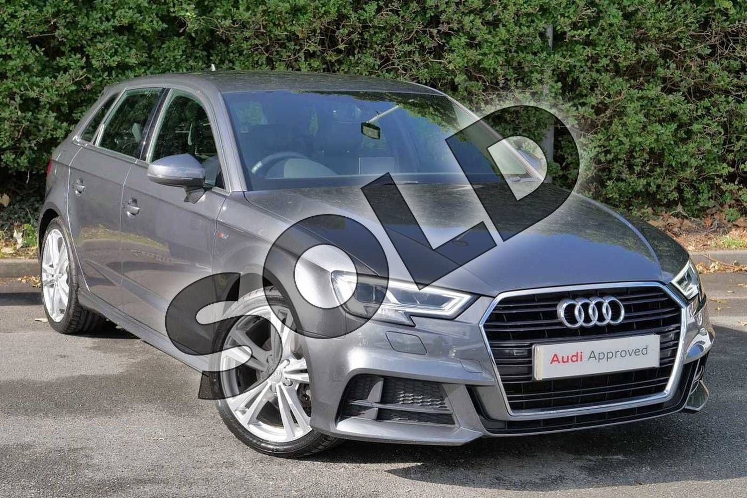 Audi A3 Sportback 1 5 Tfsi S Line 5dr S Tronic Daytona Grey Pearlescent With Black Rock Gray Interior