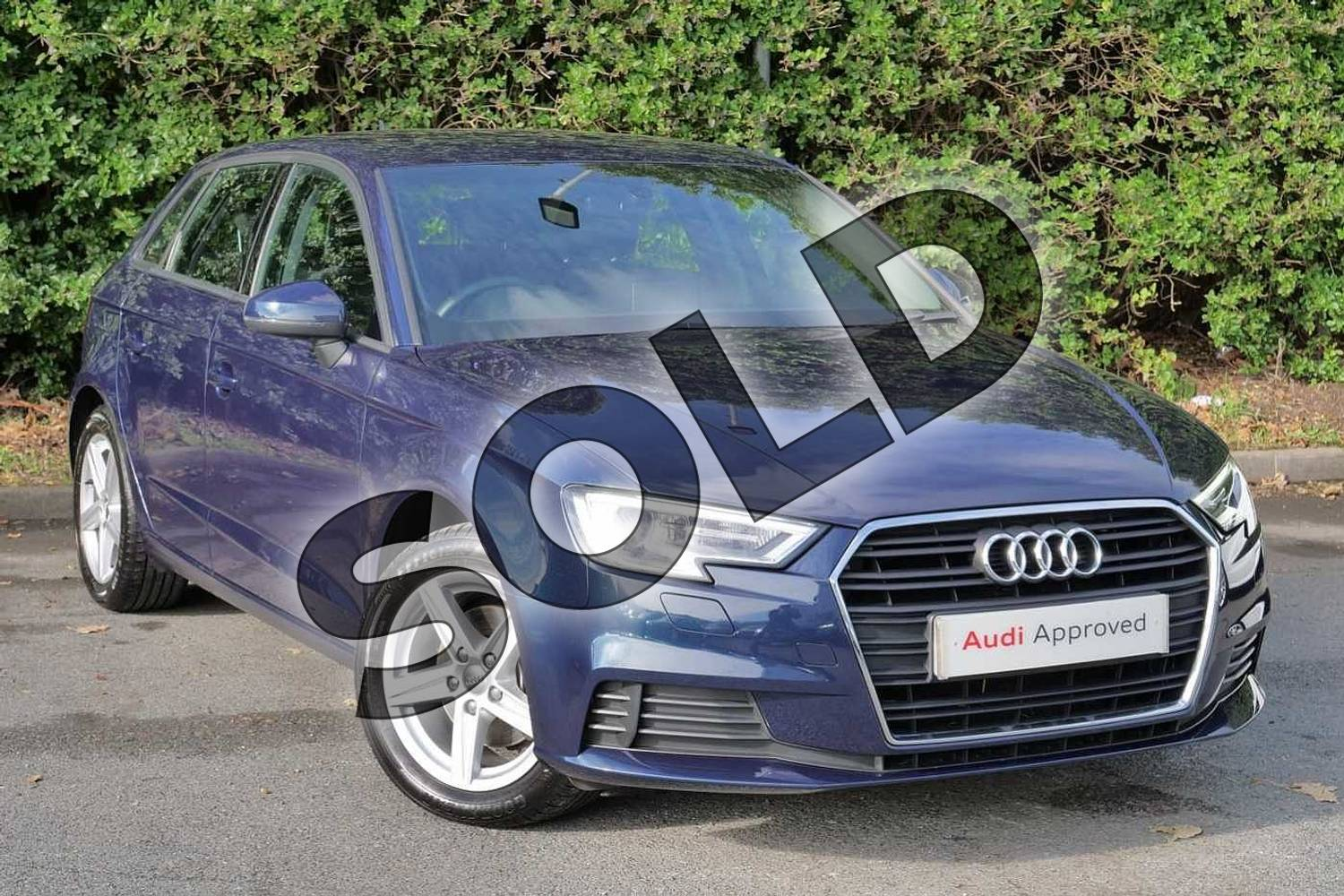 2018 Audi A3 Sportback 35 TFSI SE Technik 5dr in Cosmos Blue Metallic at Worcester Audi
