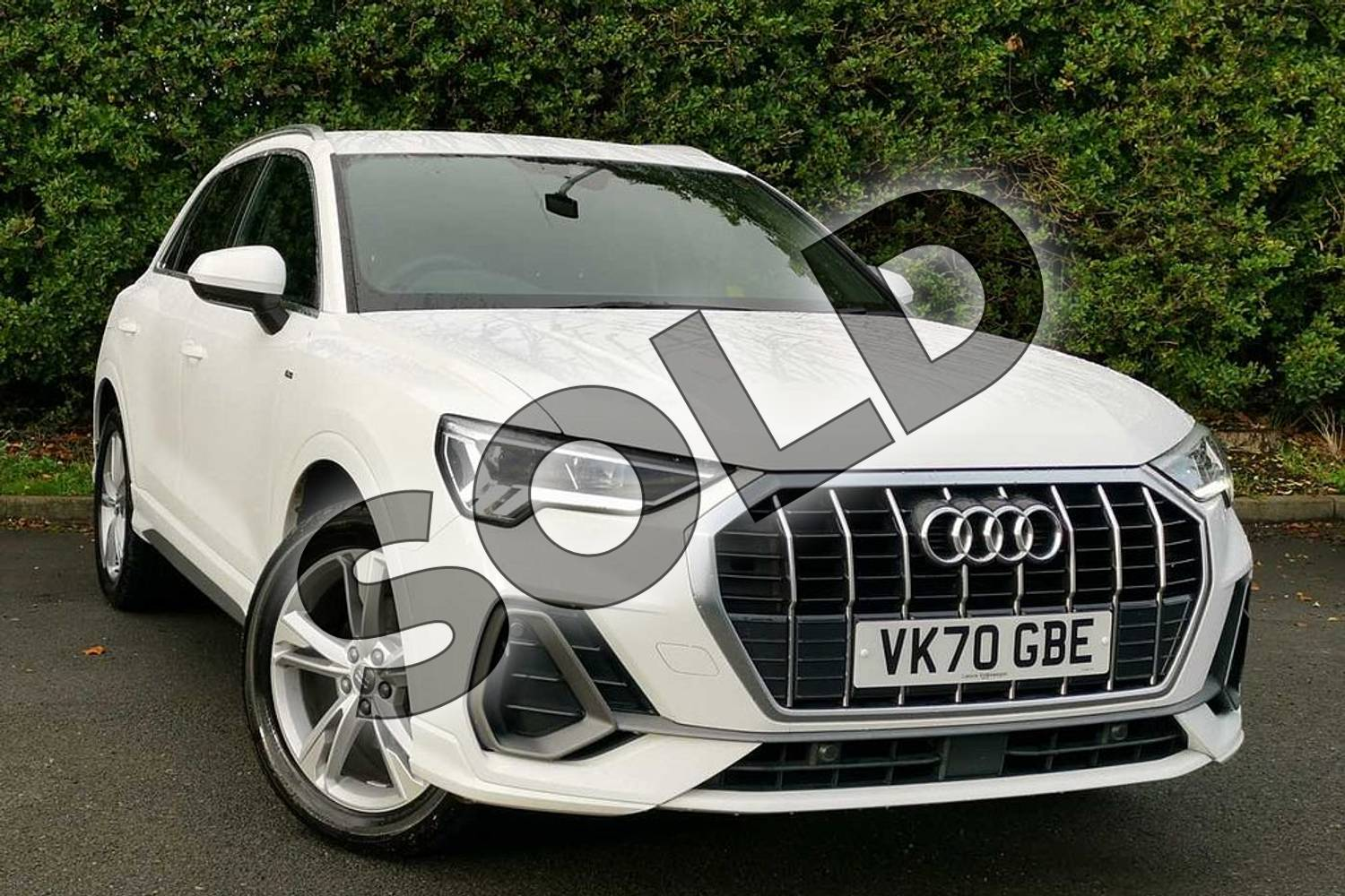 2020 Audi Q3 Sportback 35 TFSI S Line 5dr in Ibis White at Worcester Audi