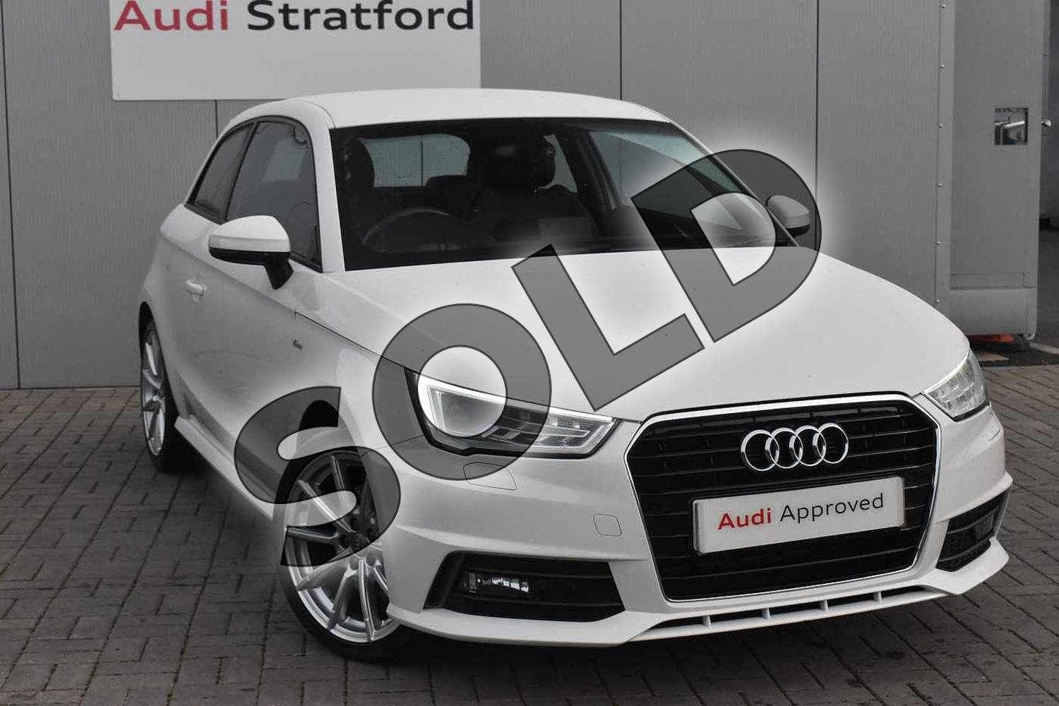 2017 Audi A1 Hatchback 1.4 TFSI S Line 3dr in Shell White at Stratford Audi