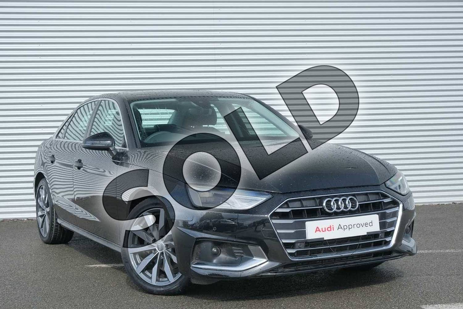 2020 Audi A4 Diesel Saloon 30 TDI Sport 4dr S Tronic in Myth Black Metallic at Coventry Audi