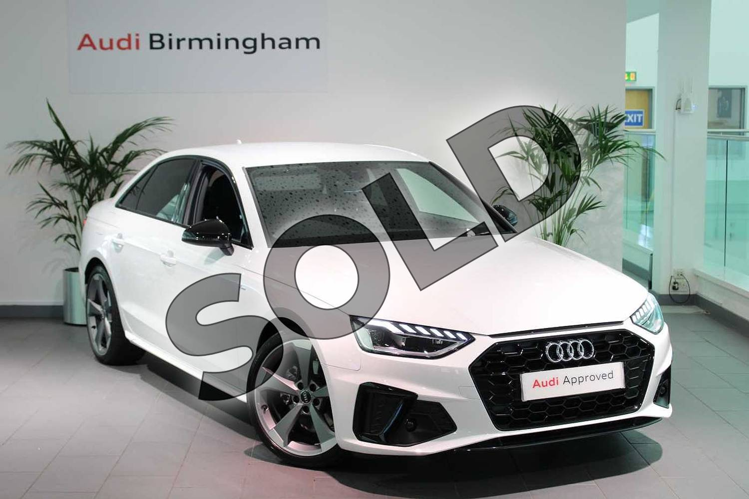 2020 Audi A4 Diesel Saloon 35 TDI Black Edition 4dr S Tronic in Ibis White at Birmingham Audi