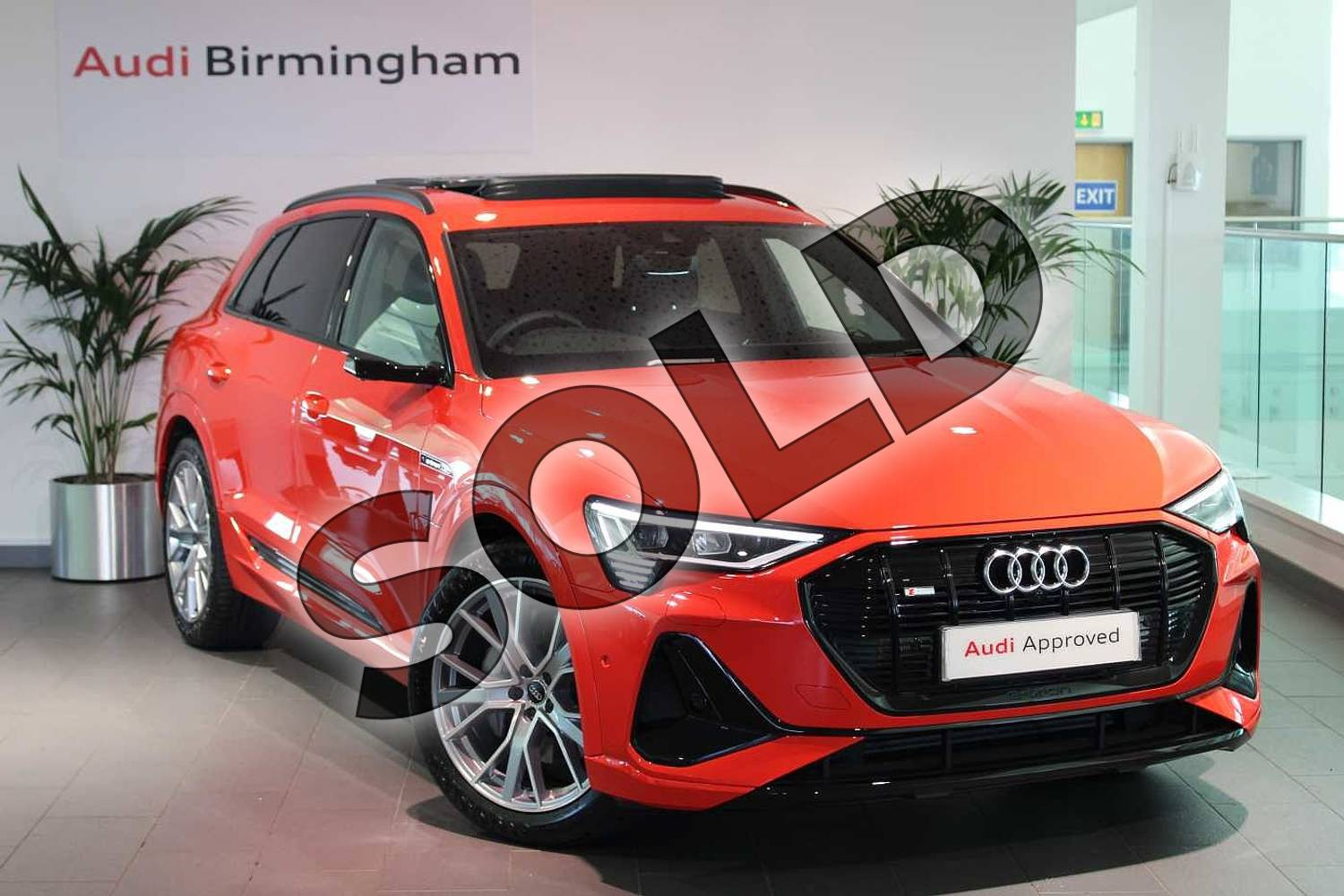 2020 Audi e-tron Estate Special Editions 230kW 50 Quattro 71kWh Launch Edition 5dr Auto in Catalunya Red Metallic at Birmingham Audi