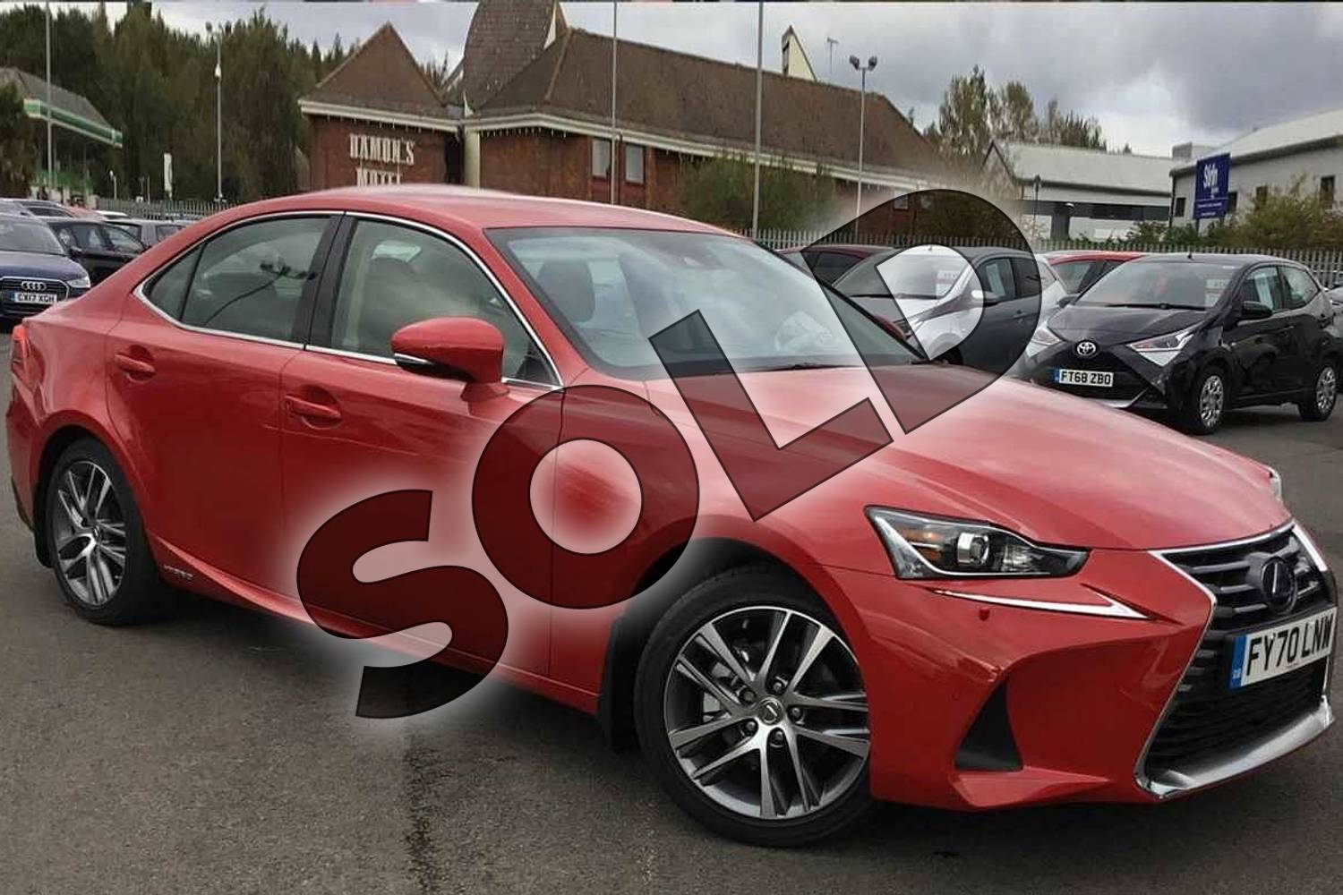 2020 Lexus IS Saloon 300h 4dr CVT Auto in Fuji Red at Lexus Lincoln