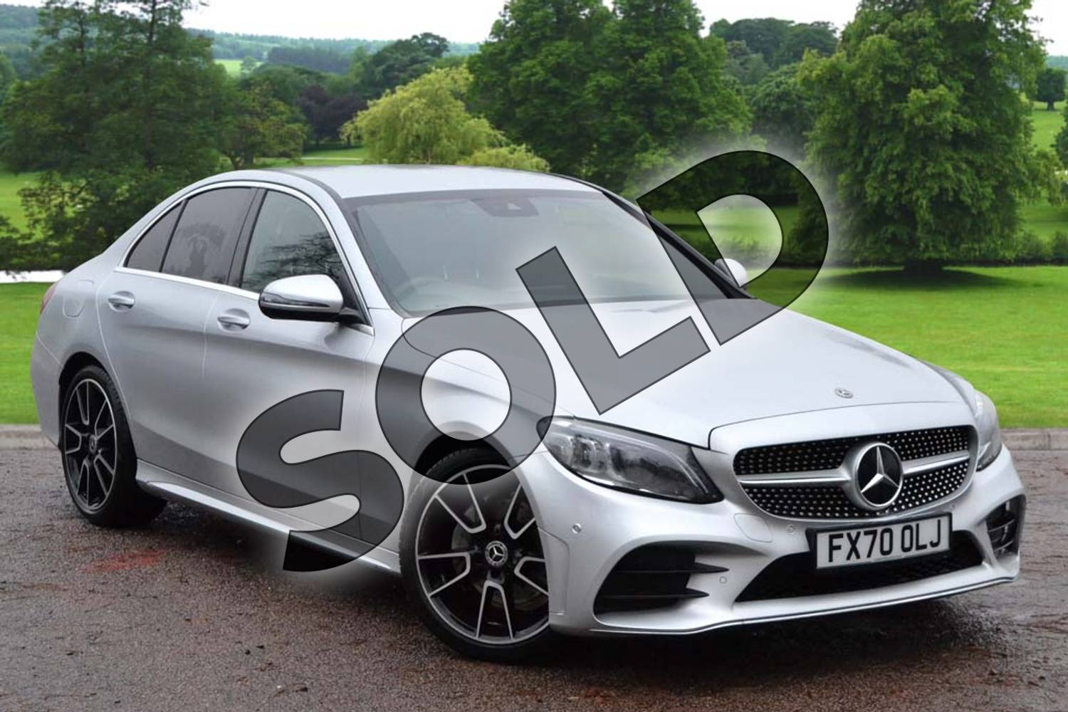 2020 Mercedes-Benz C Class Diesel Saloon C220d AMG Line Edition 4dr 9G-Tronic in iridium silver metallic at Mercedes-Benz of Grimsby
