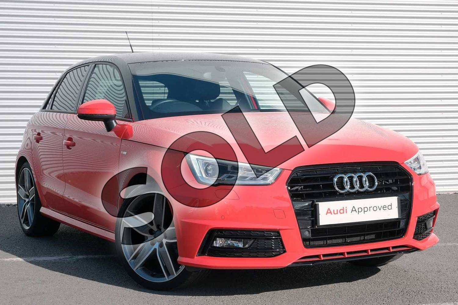 2017 Audi A1 Sportback Special Editions 1.4 TFSI 150 Black Edition 5dr in Misano Red Pearlescent at Coventry Audi