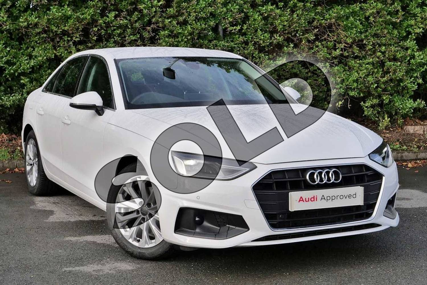 2020 Audi A4 Diesel Saloon 35 TDI Technik 4dr S Tronic in Ibis White at Worcester Audi