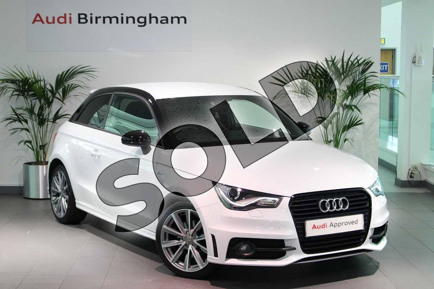 2015 Audi A1 Hatchback Special Editions 1.6 TDI S Line Style Edition 3dr in Glacier White, metallic at Birmingham Audi