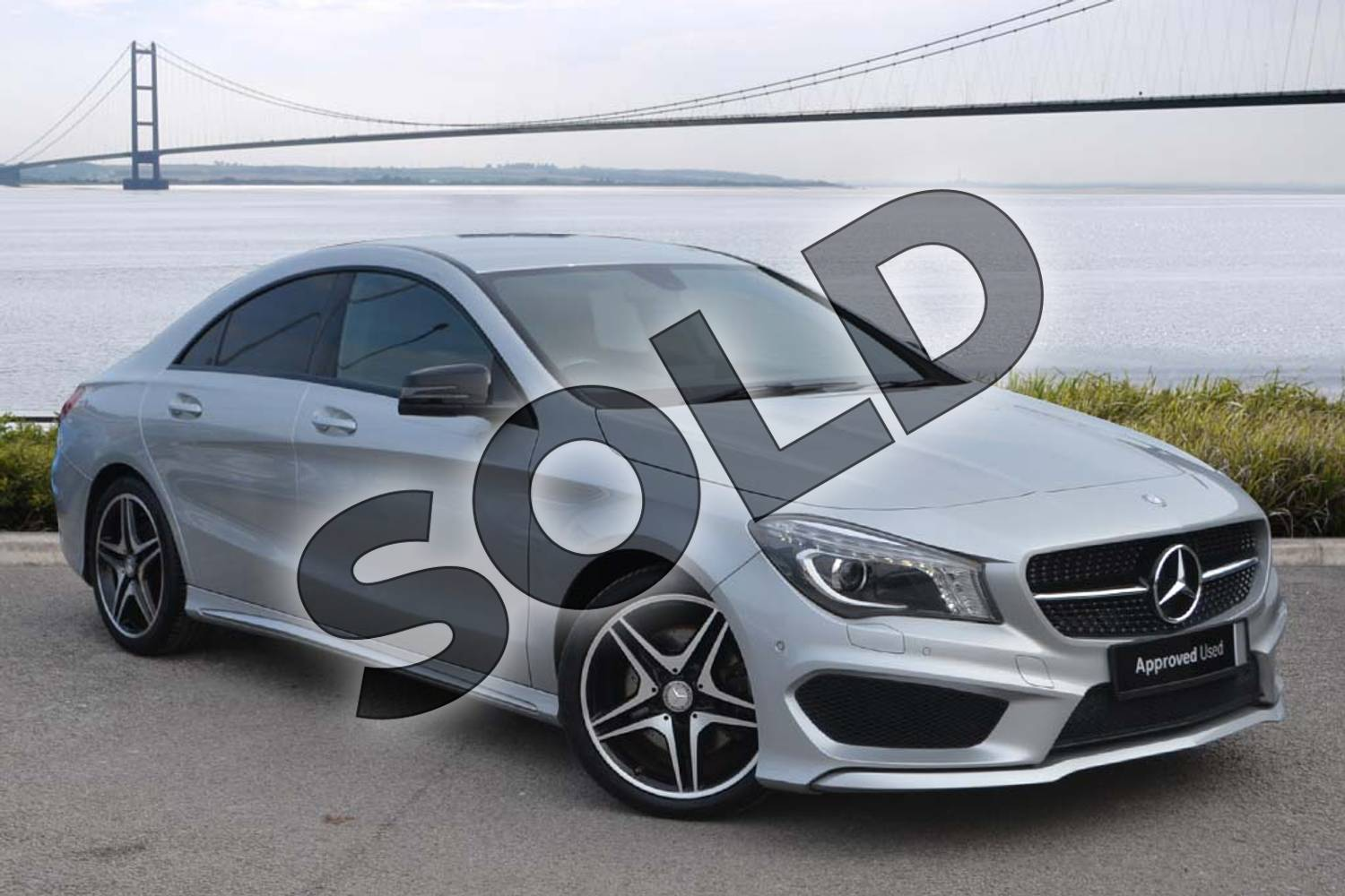 2014 Mercedes-Benz CLA Diesel Coupe CLA 220 CDI AMG Sport 4dr Tip Auto in Polar silver metallic at Mercedes-Benz of Hull