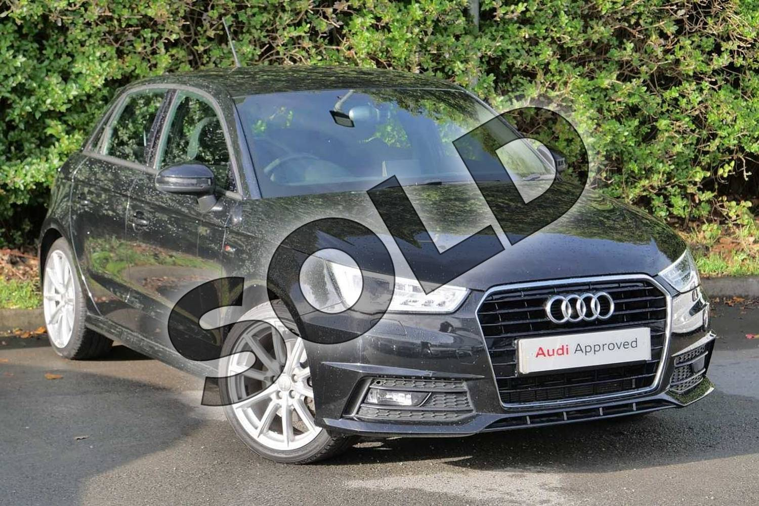 2015 Audi A1 Sportback 1.4 TFSI 150 S Line 5dr in Mythos Black, metallic at Worcester Audi