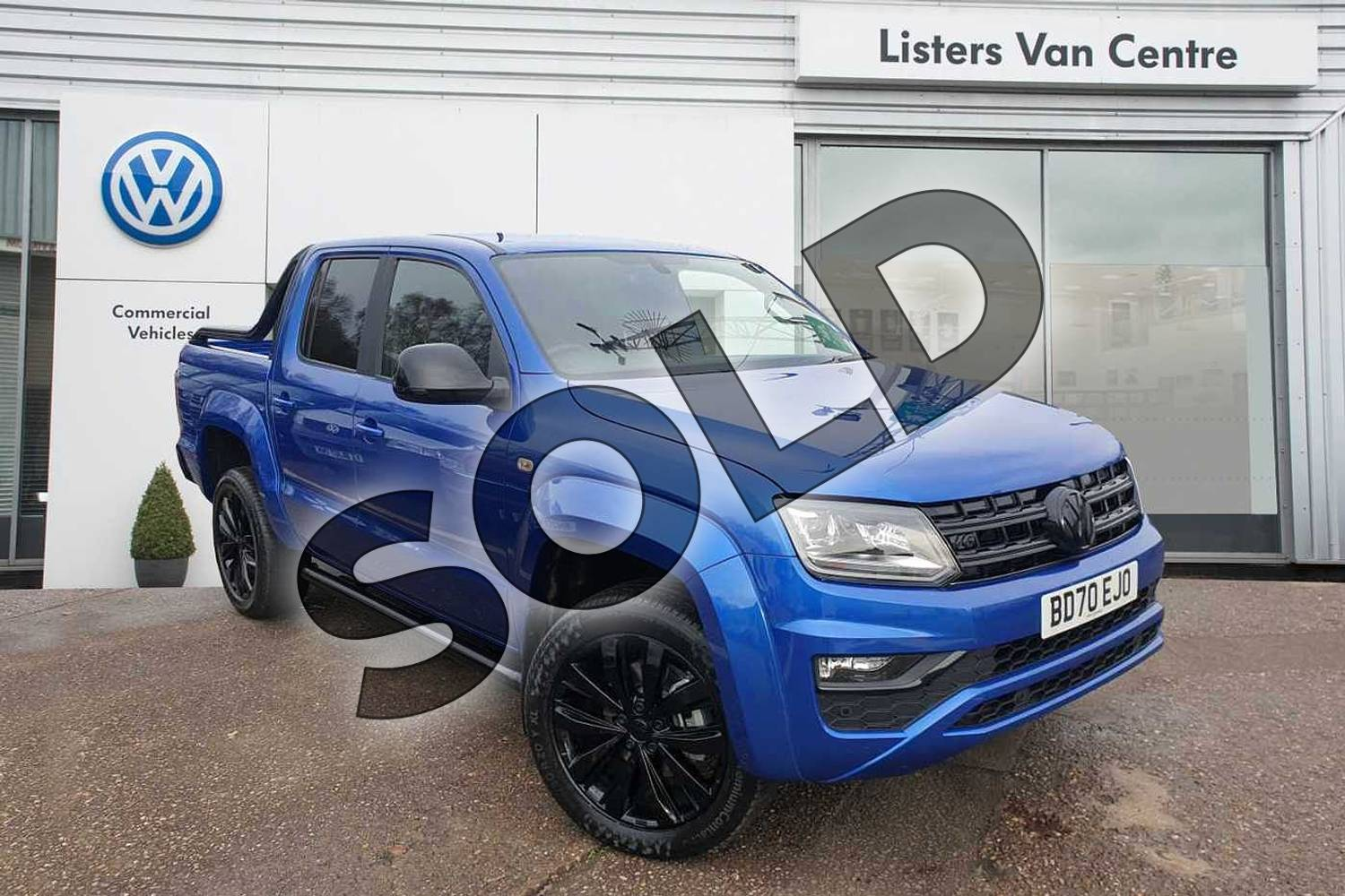 2020 Volkswagen Amarok 3.0TDI V6 (258PS) Eu6dT Black Edition 4M in Blue at Listers Volkswagen Van Centre Coventry