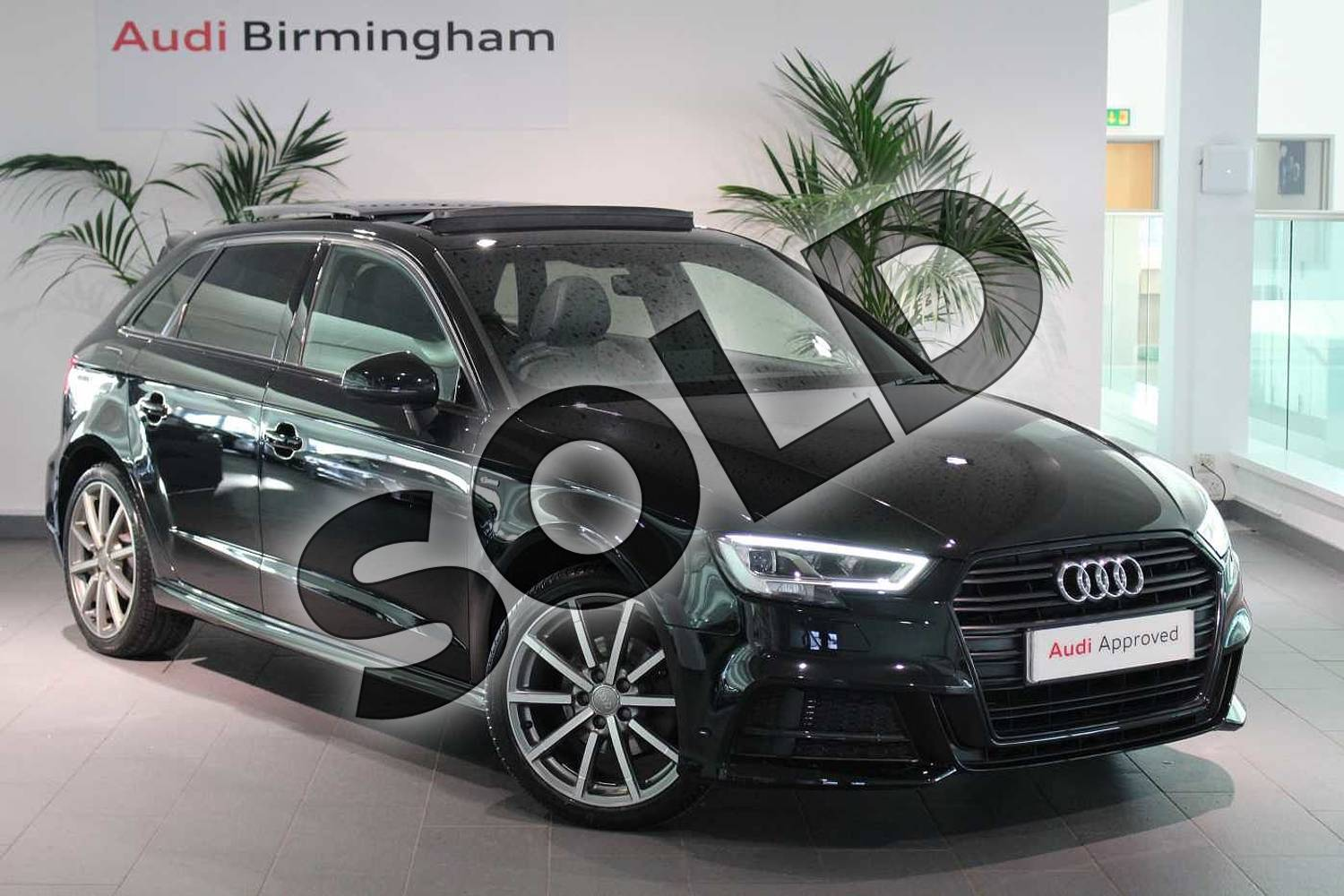2017 Audi A3 Sportback Special Editions 1.4 TFSI Black Edition 5dr in Myth Black Metallic at Worcester Audi