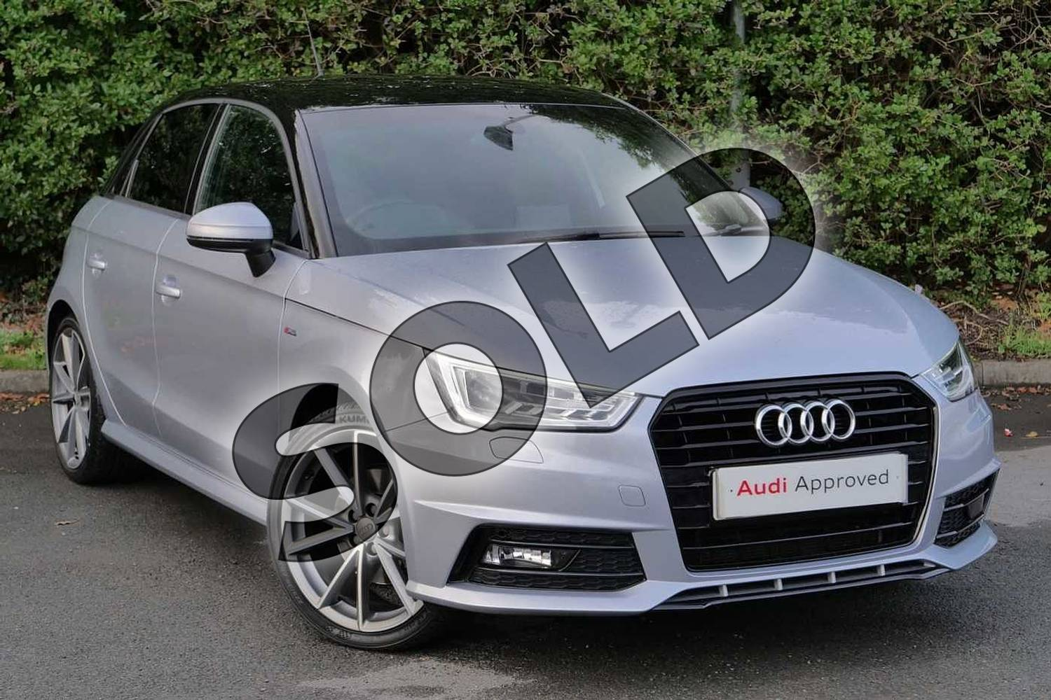 2016 Audi A1 Sportback Special Editions 1.6 TDI Black Edition 5dr in Floret Silver Metallic at Worcester Audi