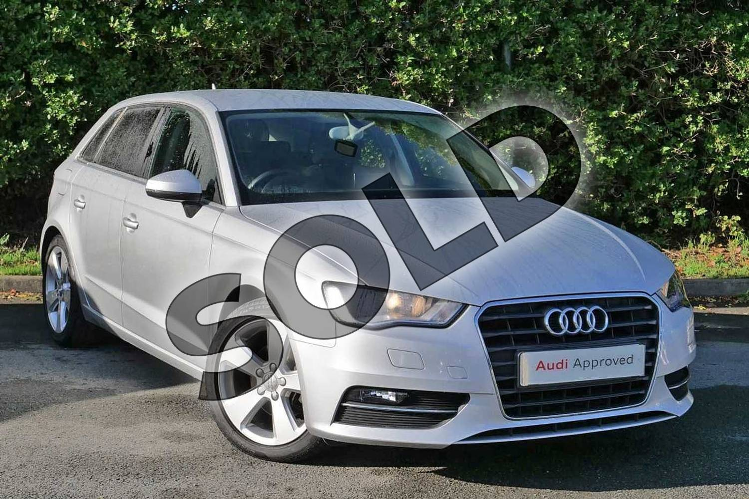 2013 Audi A3 Sportback 1.4 TFSI Sport 5dr in Ice Silver, metallic at Worcester Audi