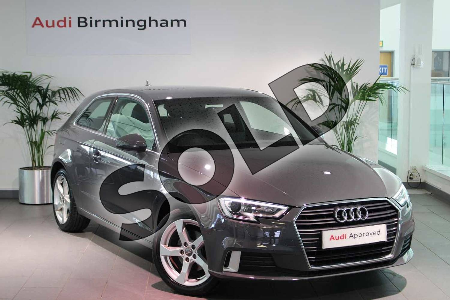 2016 Audi A3 Hatchback 1.4 TFSI Sport 3dr in Nano Grey Metallic at Birmingham Audi